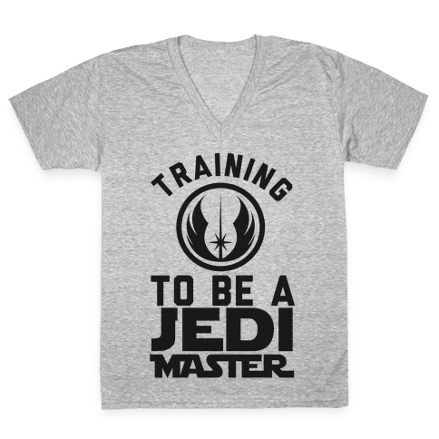 Training To Be A Jedi Master V-Neck Tee Shirt