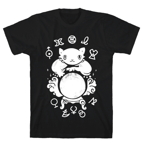 Lucky Tarot Cat #13 Mens T-Shirt