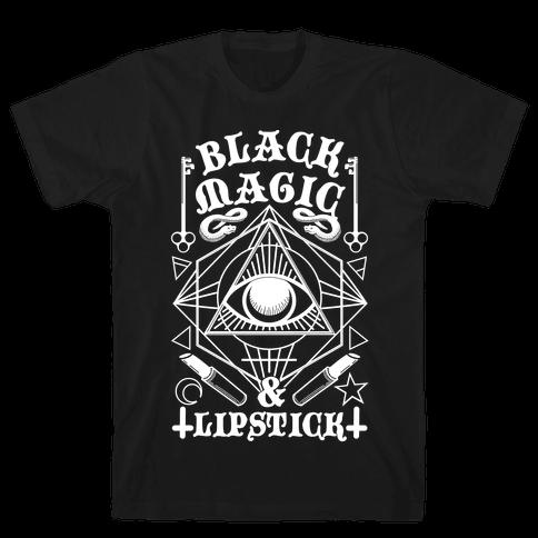 Black Magic & Lipstick Mens T-Shirt
