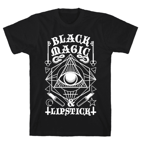 Black Magic & Lipstick Mens T-Shirt