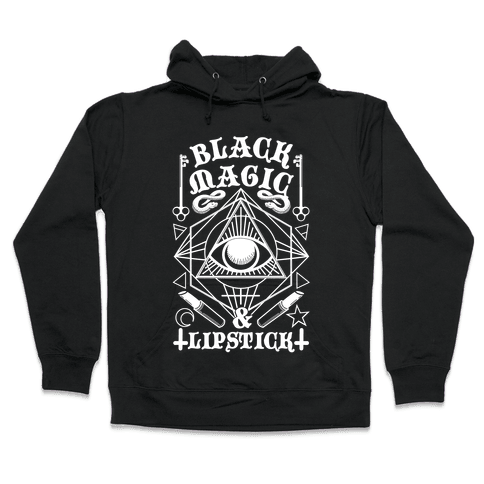 Black Magic & Lipstick Hooded Sweatshirt