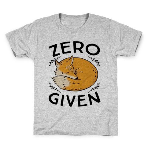 Zero Fox Given Kids T-Shirt