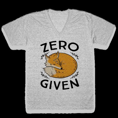 Zero Fox Given V-Neck Tee Shirt