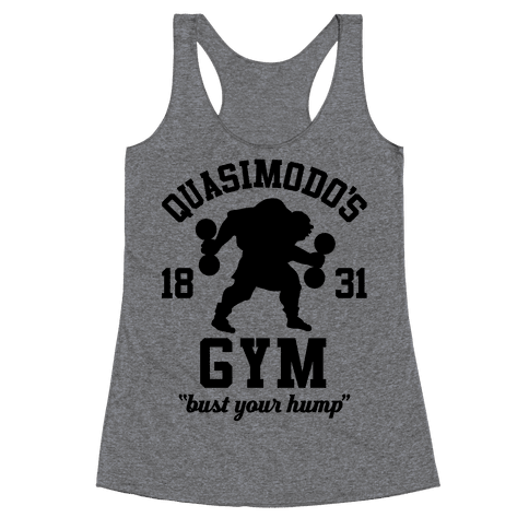Quasimodo's Gym Racerback Tank Top