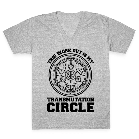 This Workout is My Transmutation Circle V-Neck Tee Shirt