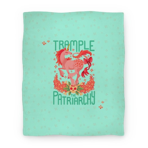 Trample The Patriarchy Blanket