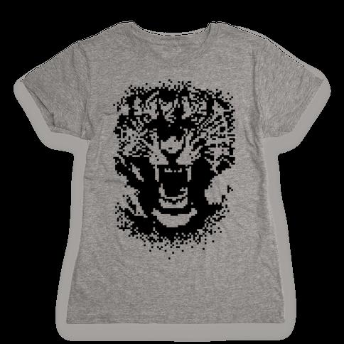 Pixel Tiger Womens T-Shirt