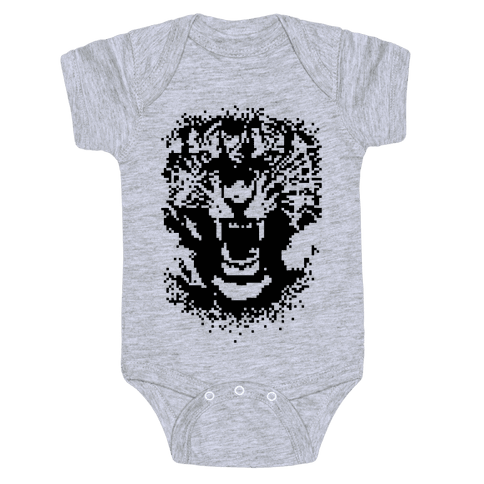 Pixel Tiger Baby Onesy