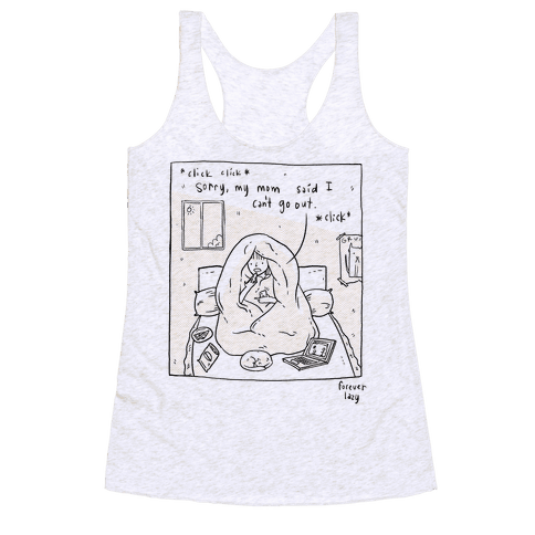 Forever Lazy Racerback Tank Top