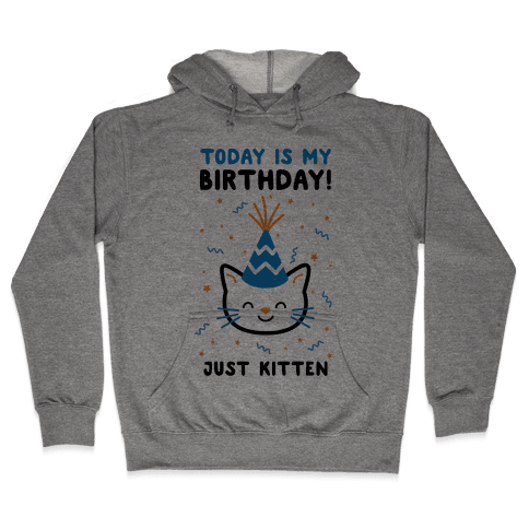 Today's My Birthday, Just Kitten Hooded Sweatshirt