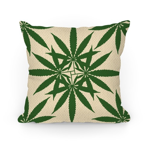 Weed Pattern Pillow
