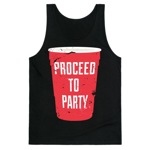 Proceed to Party (Dark) Tank Top