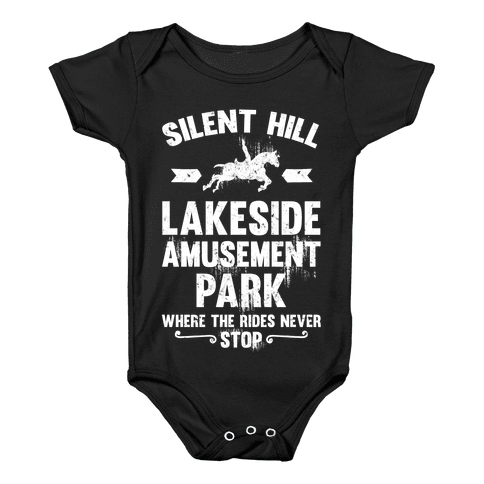 Silent Hill Lakeside Amusement Park Where The Rides Never Stop Baby Onesy