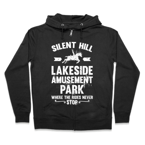 Silent Hill Lakeside Amusement Park Where The Rides Never Stop Zip Hoodie