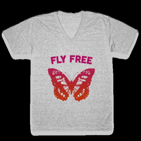 Fly Free V-Neck Tee Shirt