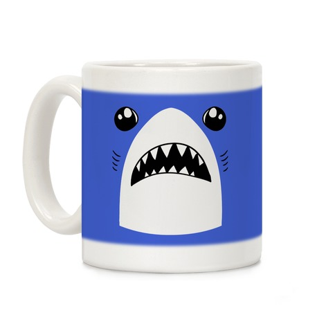 Left Shark Face Coffee Mug