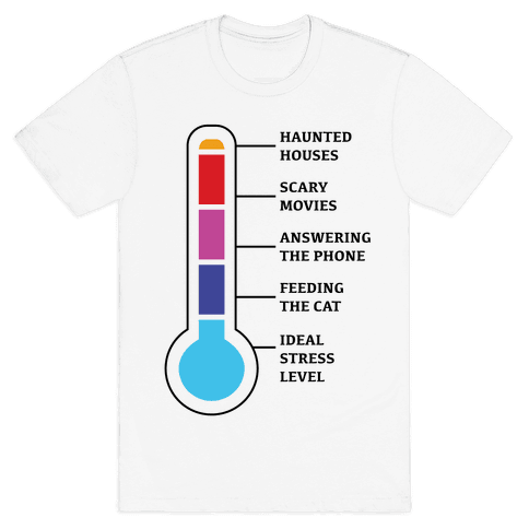 Stress and Anxiety Level Chart Mens T-Shirt