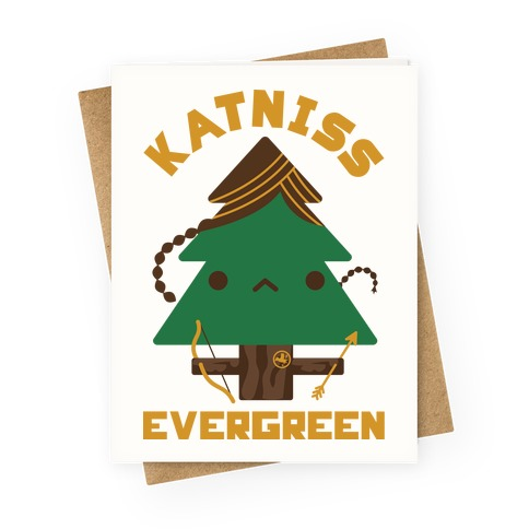 Katniss Evergreen Greeting Card