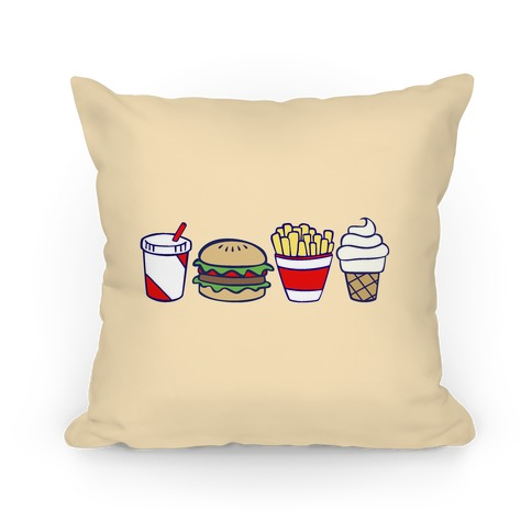 Cute Fast Food Pillow