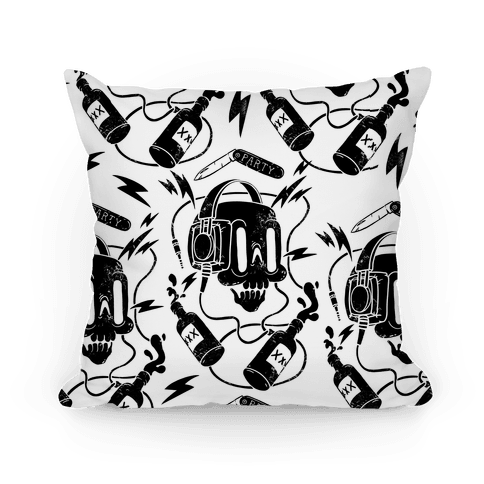 Party Skull Pattern Pillow Pillow