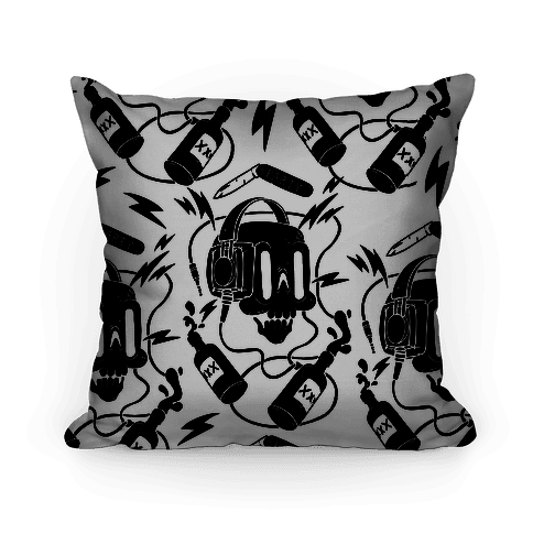 Party Skull Pattern Pillow