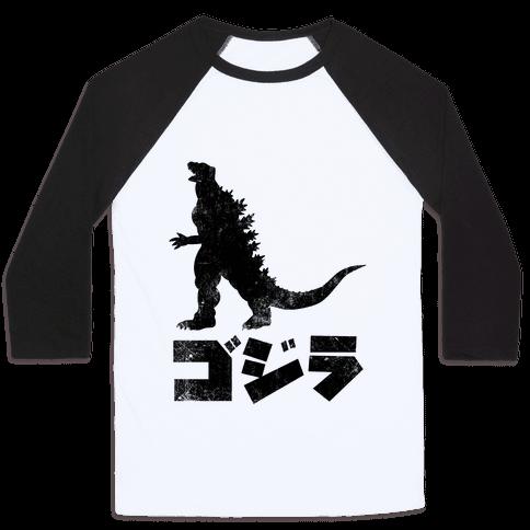 Godzilla (Vintage) Baseball Tee
