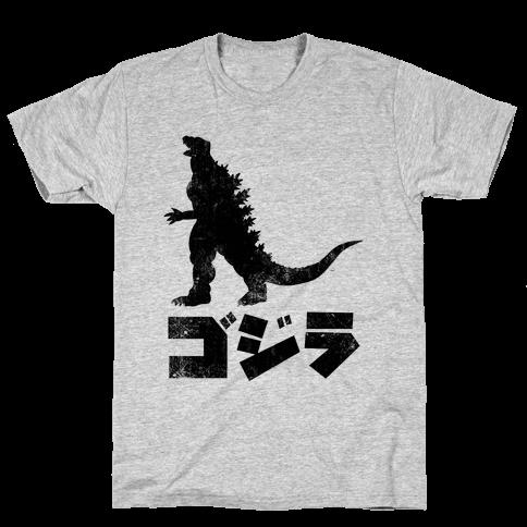 Godzilla (Vintage) Mens T-Shirt