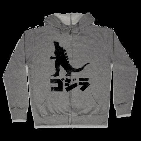 Godzilla (Vintage) Zip Hoodie