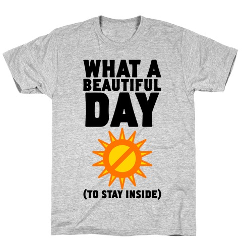 What A Beautiful Day (To Stay Inside) T-Shirt