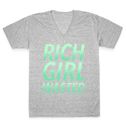 Rich Girl Wasted V-Neck Tee Shirt