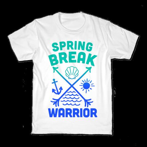Spring Break Warrior Kids T-Shirt