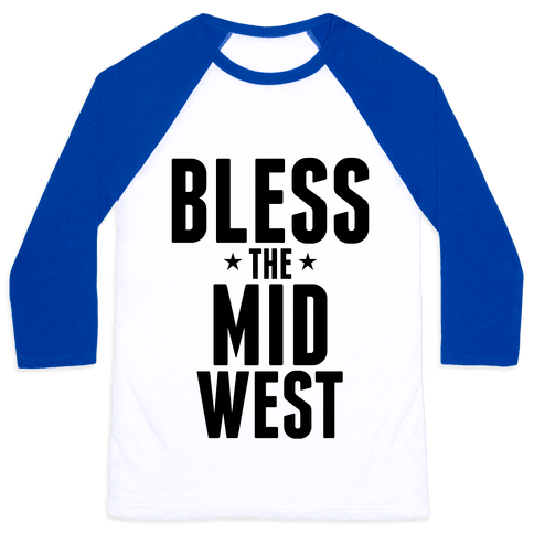 Bless The Midwest Baseball Tee