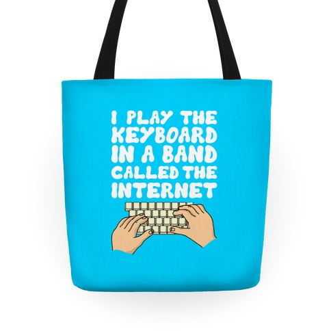 I Play The Keyboard Tote