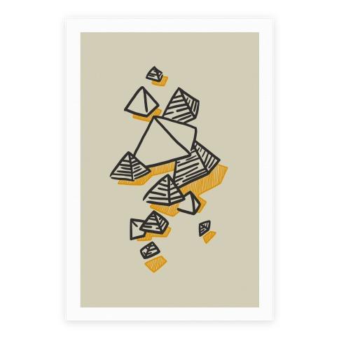 Geometric Pyramids Poster