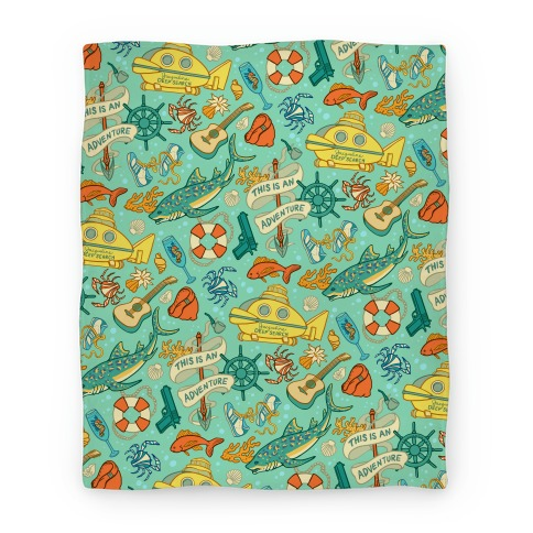 Life Aquatic Nautical Pattern Blanket