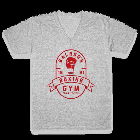 Balrog's Boxing Gym V-Neck Tee Shirt