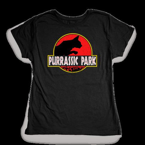 Purrassic Park Womens T-Shirt