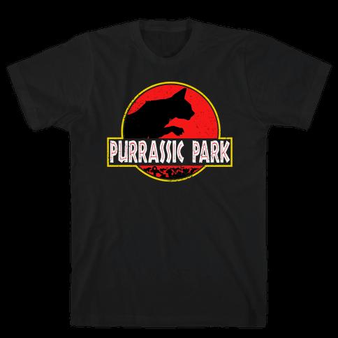 Purrassic Park Mens T-Shirt