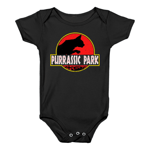 Purrassic Park Baby Onesy