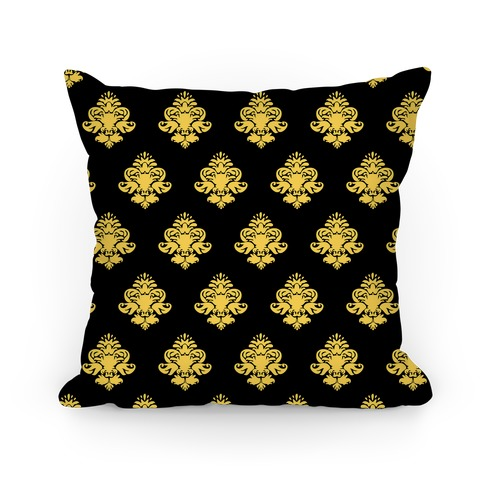 Black & Gold Classy Pillow Pattern Pillow