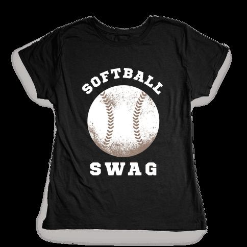 Softball Swag (Dark Tank) Womens T-Shirt