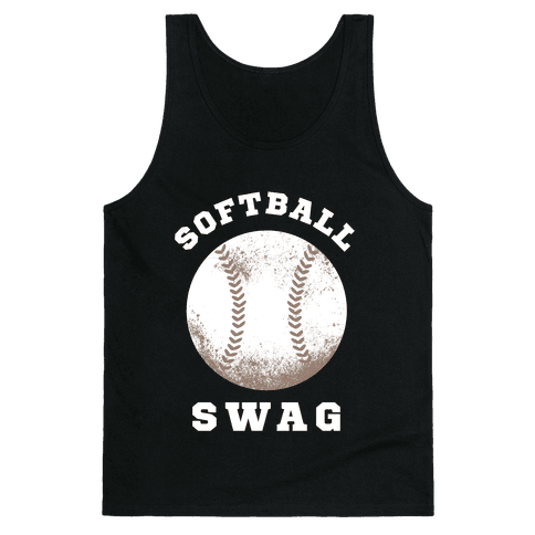 Softball Swag (Dark Tank) Tank Top