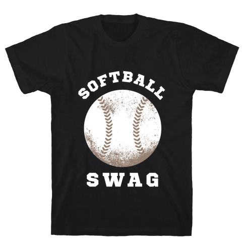 Softball Swag (Dark Tank) Mens T-Shirt