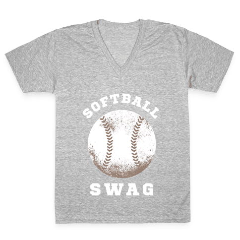 Softball Swag (Dark Tank) V-Neck Tee Shirt
