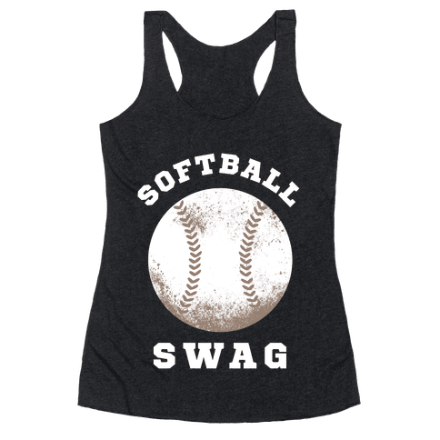 Softball Swag (Dark Tank) Racerback Tank Top