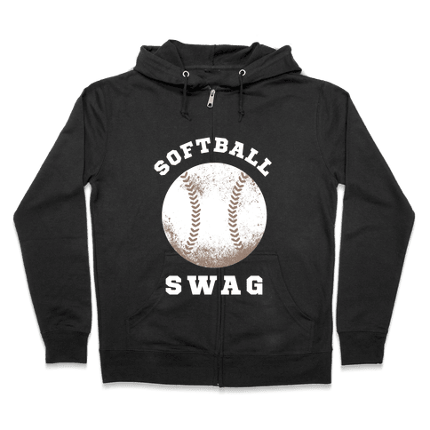 Softball Swag (Dark Tank) Zip Hoodie