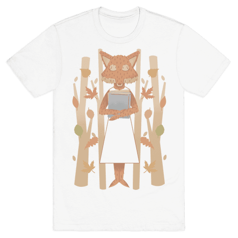 Well Read Fox Mens T-Shirt