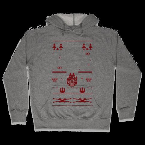 Scifi Christmas Sweater Hooded Sweatshirt