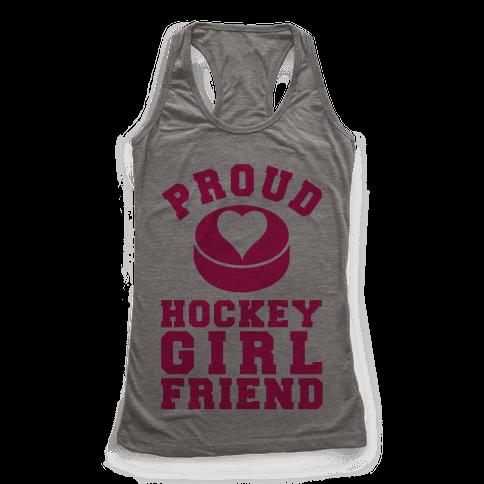Proud Hockey Girlfriend Racerback Tank Top