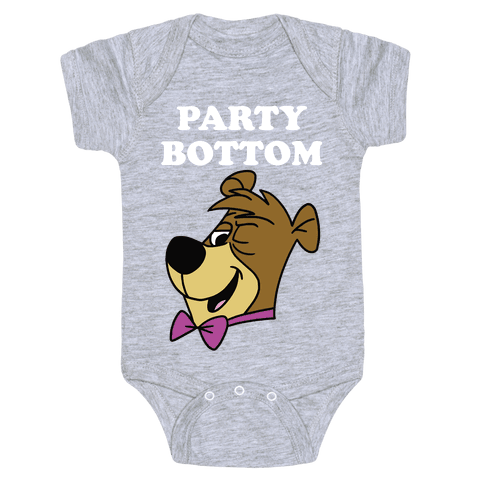 Power Top & Party Bottom (Cub) Baby Onesy